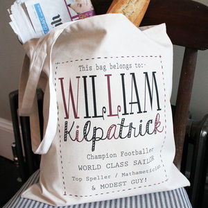 Personalised 'Typographic' Bag - shoulder bags