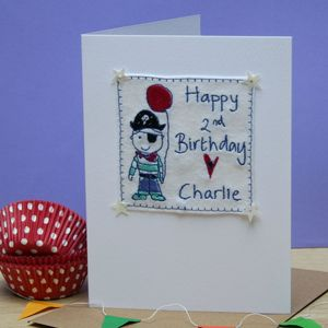 Personalised Birthday Pirate Card