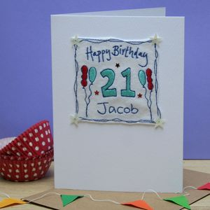 Personalised Birthday Balloons Card
