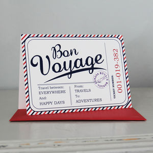 'Bon Voyage' Card - leaving cards