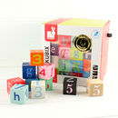 Wooden Letter And Number Stacking Toy Cubes