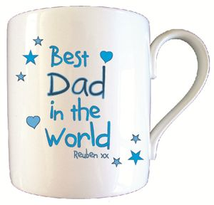 Personalised Best Dad In World Father's Day Mug - kitchen