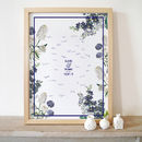 Personalised Flowers Wedding Guestbook