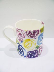 China Mug With Rose Design - kitchen