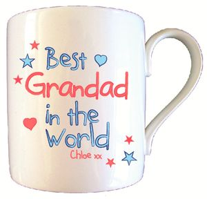 Personalised Best Grandad In World Father's Day Mug - crockery & chinaware