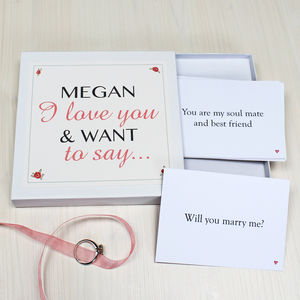 Personalised 'Will You Marry Me?' Notes - proposal ideas