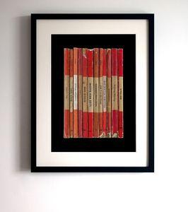 Pulp 'Different Class' Album As Books Poster Print