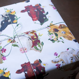 Cows And Flowers Wrapping Paper - shop by category