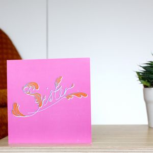 'Sister' Vintage Greetings Card