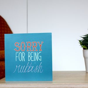 'Sorry For Being Rubbish' Vintage Sorry Card - view all sale items
