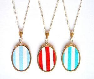 Handmade Stripey Necklace