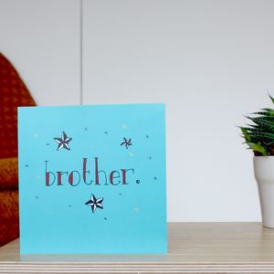 'Brother' Vintage Birthday Card - view all sale items