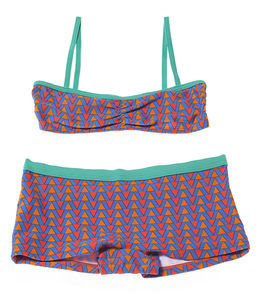 Girls' Geometric Shorts Uv Bikini