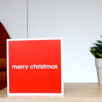 'Merry Christmas' Modern Christmas Card