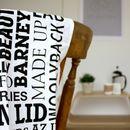Scouse Dialect Modern Tea Towel