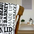 Scouse Dialect Modern Tea Towel