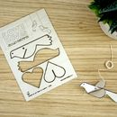 Wooden Love Dove Decoration