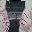 Fingerless Mittens With Ribbon