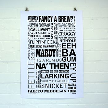 Yorkshire Dialect Poster