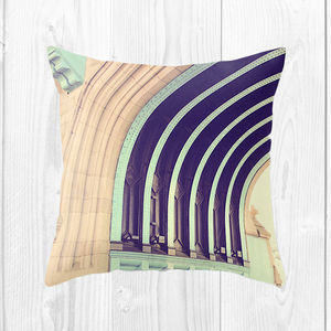 Curves Of Tower Bridge Cushion - living room