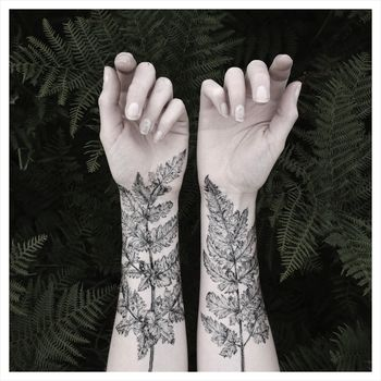 Fern & Crystals Temporary Tattoo Kit - NATURE GIRL From the Forest