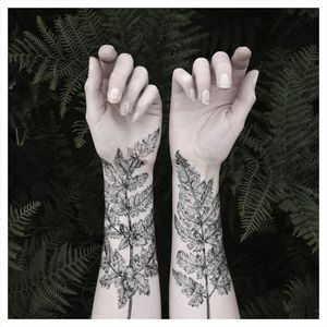 Nature Girl From The Forest Temporary Tattoos - victorian gothic