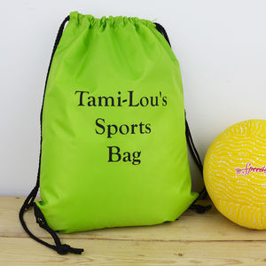 Personalised P.E. Sports Bag Water Resistant - more