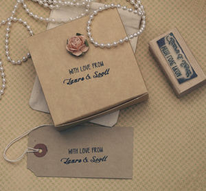 'With Love' Personalised Wedding Favours Stamp