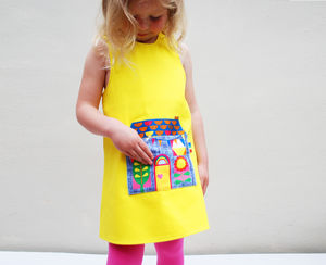 Girls Dress With Summer House Pocket - clothing