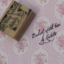 Baked With Love Signature Style Personalised Stamp