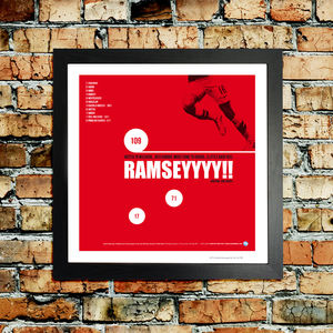 Arsenal 'Ramsey' F.A Cup Football Print - home accessories