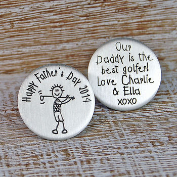Personalised Silver Father's Day Golf Marker