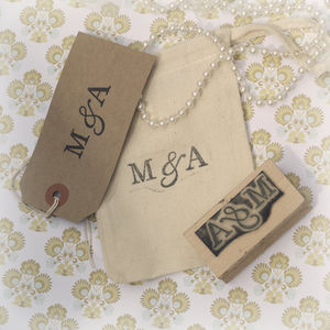 Initials Customised Rubber Stamp - stickers & stamps