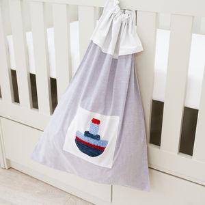 Nautical Children's Laundry Bag - children's storage