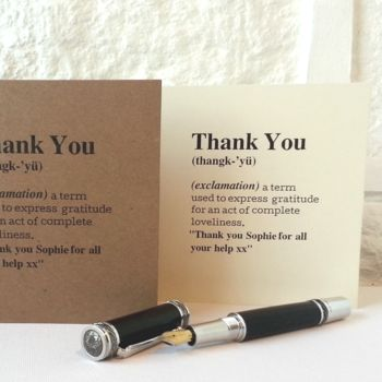 Personalised 'Thank You' Definition Card