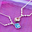 Pendant Necklace Made With Swarovski Crystals