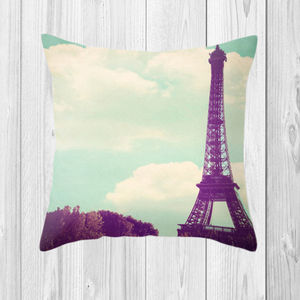 Eiffel Tower Cushion - living room