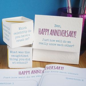 Personalised 'Mr And Mrs' Anniversary Card