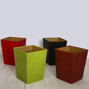 Recycled Leather Effect Waste Paper Bin - storage & organisers
