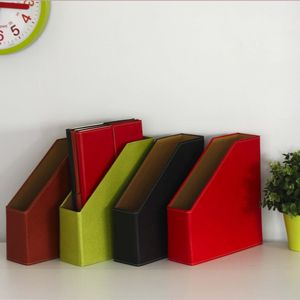 Recycled Leather Effect Magazine File - shelves & racks
