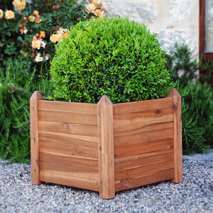 Manhattan Square Hardwood Planter