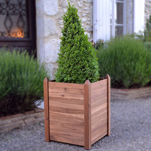 Manhattan Tall Hardwood Planter - pots & planters