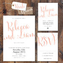 Calligraphy Script Wedding Stationery