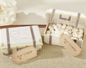 Vintage Style Suitcase Favour Box - wedding favours