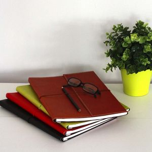 Recycled Leather Effect A4 Lined Notebook