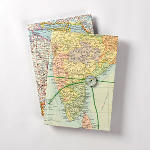 Vintage World Map Journal - map-gifts