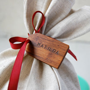 Personalised Mini Wooden Gift Tag - cards & wrap