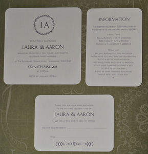 'Initials' Style Personalised Wedding Invitations