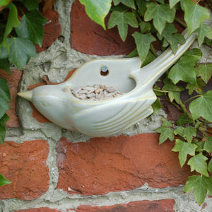 Wall Mounted Ceramic Birdfeeder