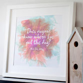 Personalised Quote Print - trends
